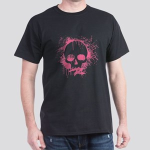 Pink Sprayed Skull T-Shirt