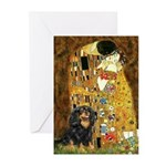 The Kiss / Cavalier (Blk-Tan) Greeting Cards (Pk o