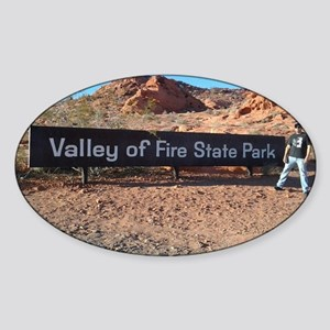 Valley Of Fire State Park Sticker (Oval)