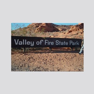 Valley Of Fire State Park Rectangle Magnet