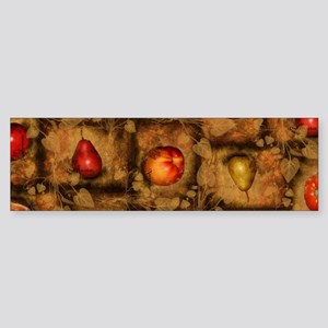 Fruit Collage Pattern Bumper Sticker