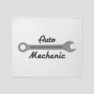 Auto Mechanic Throw Blanket