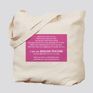 I Will Find You – Write Properly Tote Bag