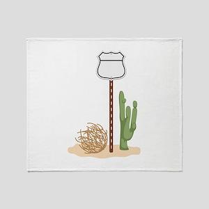 Desert Highway Throw Blanket