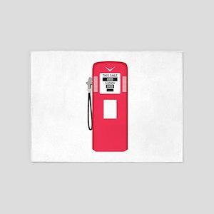 Gas Pump 5'x7'Area Rug