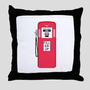 Fill Er Up Throw Pillow