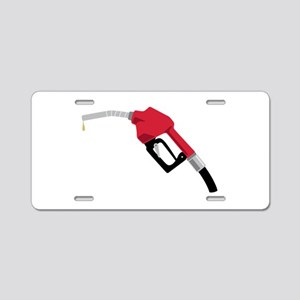 Gas Pump Nozzle Aluminum License Plate