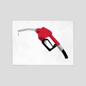 Gas Pump Nozzle 5'x7'Area Rug