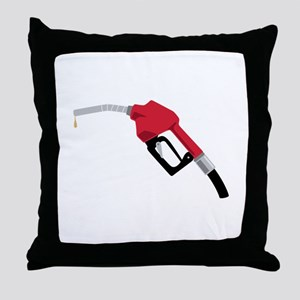 Gas Pump Nozzle Throw Pillow
