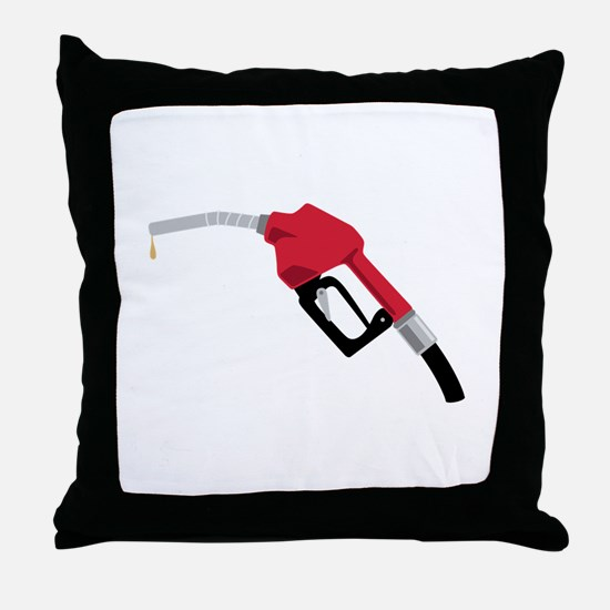 Gas Pump Nozzle Throw Pillow