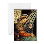 Madonna & Cavalier (BT) Greeting Cards (Pk of 20)