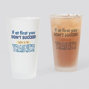 Trainer Drinking Glass