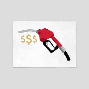 Gas Pump Money 5'x7'Area Rug
