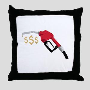 Gas Pump Money Throw Pillow