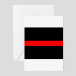 Firefighter Thin Red Line Greeting Cards