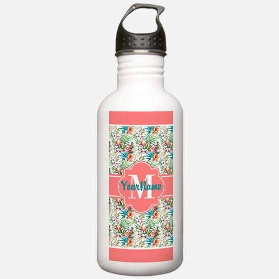 Preppy Boho Flamingo P Water Bottle