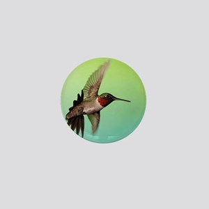 Ruby-Throated Hummingbird Mini Button