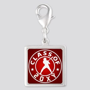 Class of 20?? Baseball Silver Square Charm