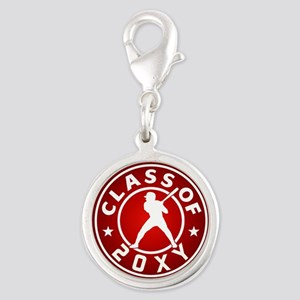 Class of 20?? Baseball Silver Round Charm
