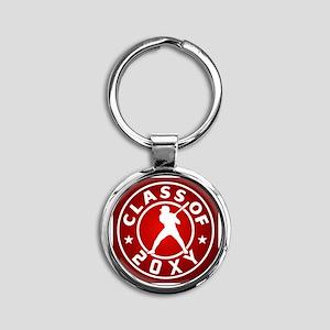 Class of 20?? Baseball Round Keychain