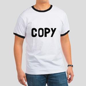 Copy Paste Adult Baby Ringer T