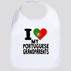 I Heart My Portuguese Grandparents Bib