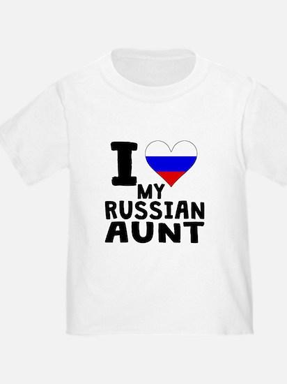 I Heart My Russian Aunt T-Shirt