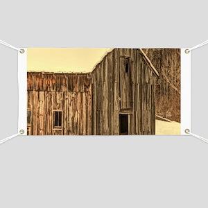 western winter old barn Banner