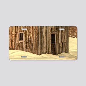 western winter old barn Aluminum License Plate