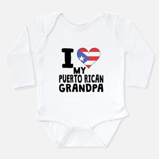 I Heart My Puerto Rican Grandpa Body Suit