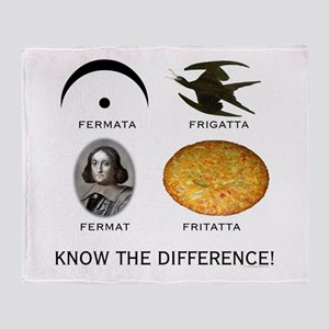 Fermata: Know the Difference Throw Blanket
