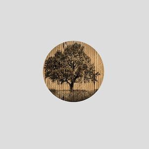 romantic landscape oak tree Mini Button