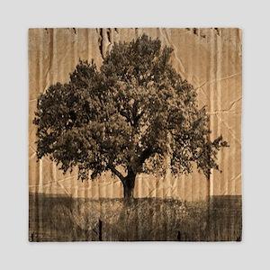 romantic landscape oak tree Queen Duvet