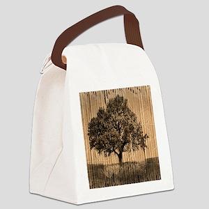 romantic landscape oak tree Canvas Lunch Bag