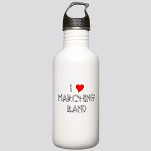 I Love Marching Band Stainless Water Bottle 1.0L