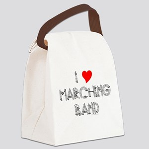 I Love Marching Band Canvas Lunch Bag