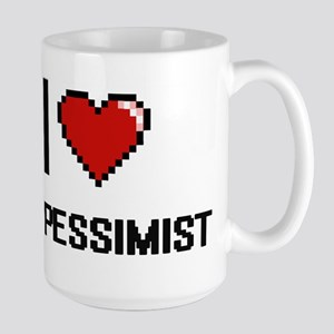 I Love My Pessimist Mugs