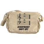Everybody Shut Up! Messenger Bag