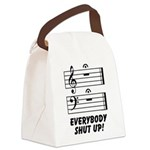 Everybody Shut Up! Canvas Lunch Bag