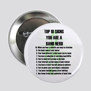 "Band Nerd Top 10 2.25"" Button (10 pack)"