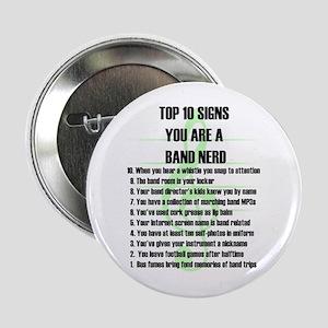"""Band Nerd Top 10 2.25"""" Button"""