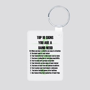 Band Nerd Top 10 Aluminum Photo Keychain