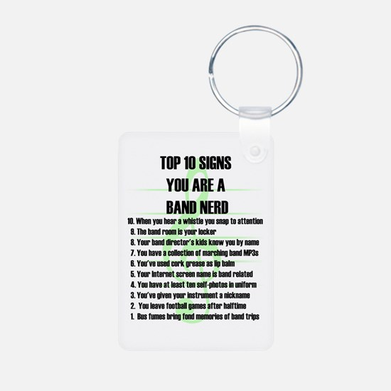 Band Nerd Top 10 Aluminum Photo Keychain