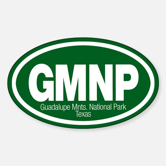Guadalupe Mountains National Park Oval Decal