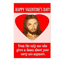 Sorry Ass Valentine's Postcards (Pack of 8)