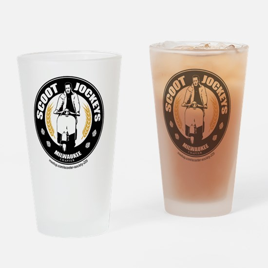 Scoot Jockeys Milwaukee Chapter Drinking Glass