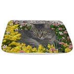 Mimosa Tiger Cat in Mimosa Flowers Bathmat
