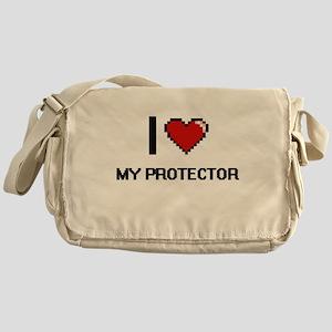 I Love My Protector Messenger Bag