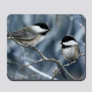 chickadee song bird Mousepad