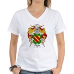Pazos Family Crest Women's V-Neck T-Shirt